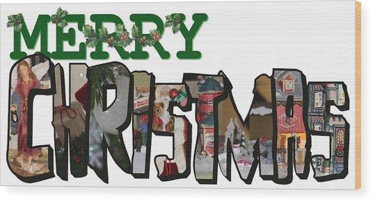 Big Letter Merry Christmas Wood Print