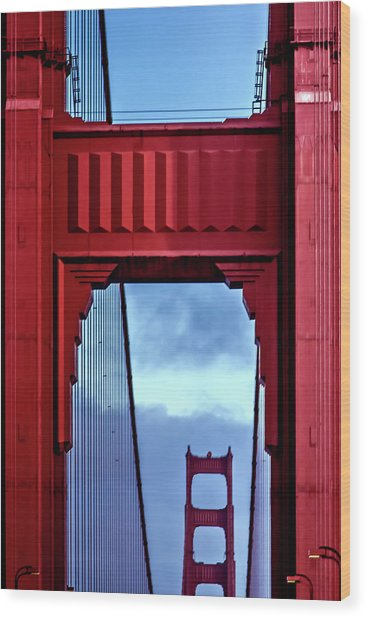 Big Red Wood Print by Az Jackson