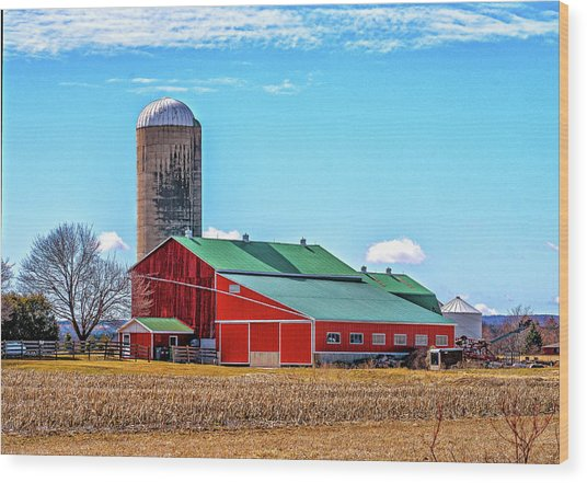 Big Red Barn 3 Wood Print