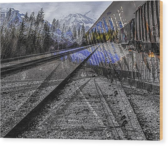 Big Steel Rail Wood Print