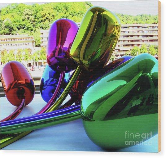 Bilbao Bouquet Wood Print