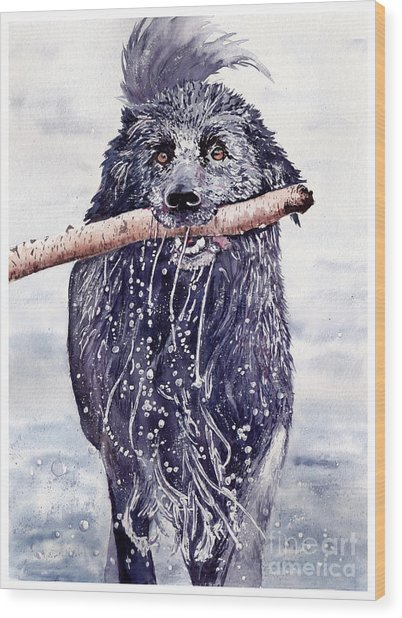 Bill Out Of The Blue Wood Print