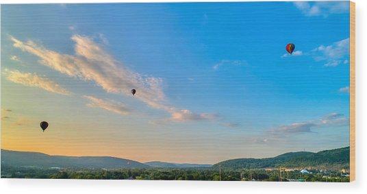 Binghamton Spiedie Festival Air Ballon Launch Wood Print