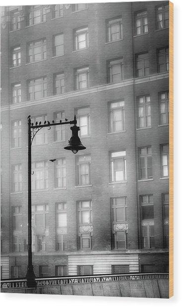 Bird Lamp Wood Print