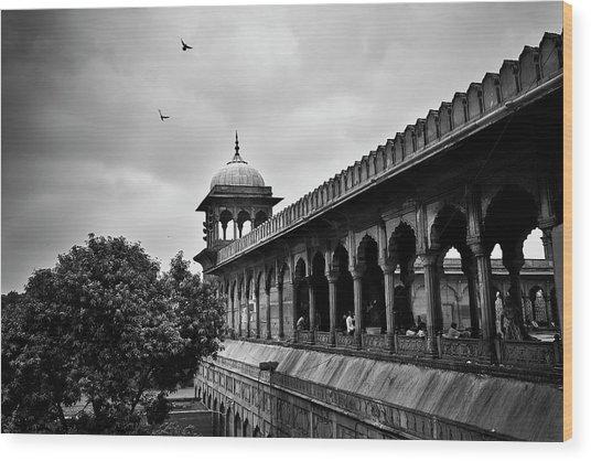 Birds Over The Jama Masjid Wood Print