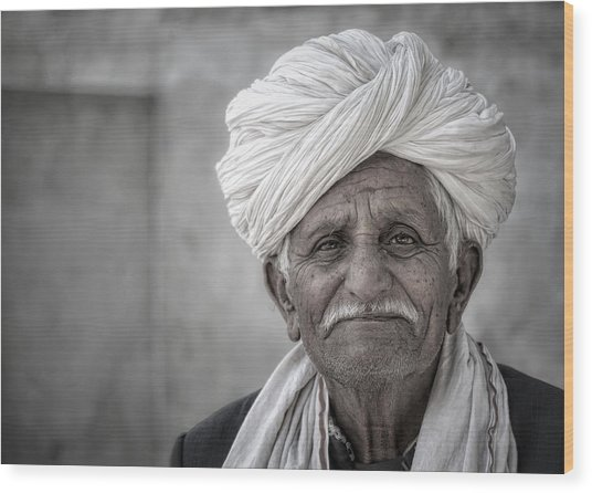Bishnoi Elder Wood Print