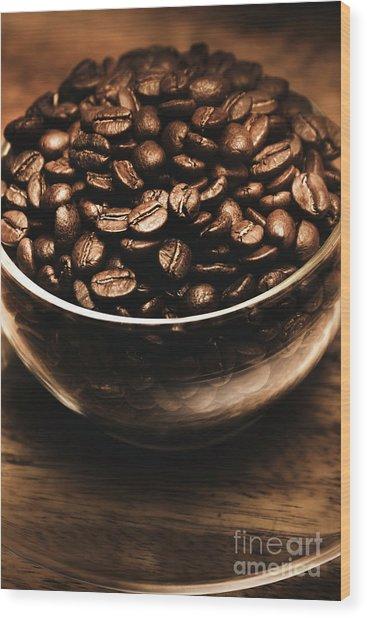 Black Coffee, No Sugar Wood Print