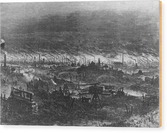 Black Country Wood Print by Hulton Archive