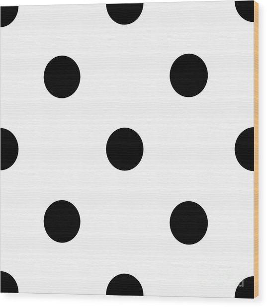 Black Dots On A White Background- Ddh610 Wood Print