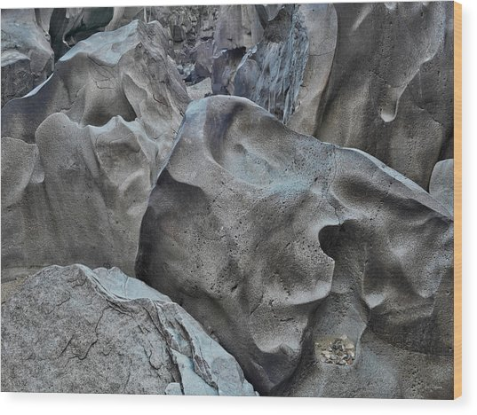 Black Magic Canyon 5b Wood Print by Leland D Howard