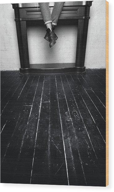 Black Shoes #9397 Wood Print