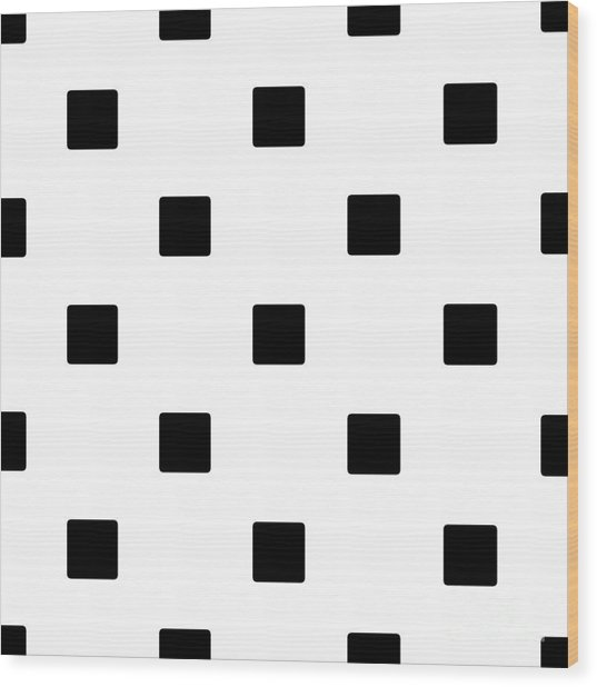 Black Squares On A White Background- Ddh574 Wood Print