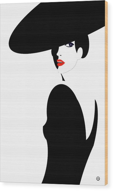 Black Widow 2 Wood Print