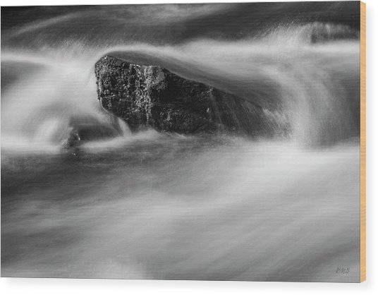 Wood Print featuring the photograph Blackstone River Xvi  Bw by David Gordon