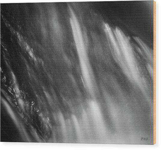 Wood Print featuring the photograph Blackstone River Xvii  Bw by David Gordon
