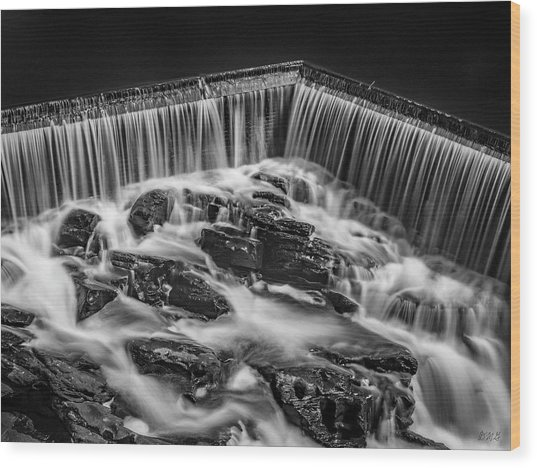 Wood Print featuring the photograph Blackstone River Xviii Bw by David Gordon