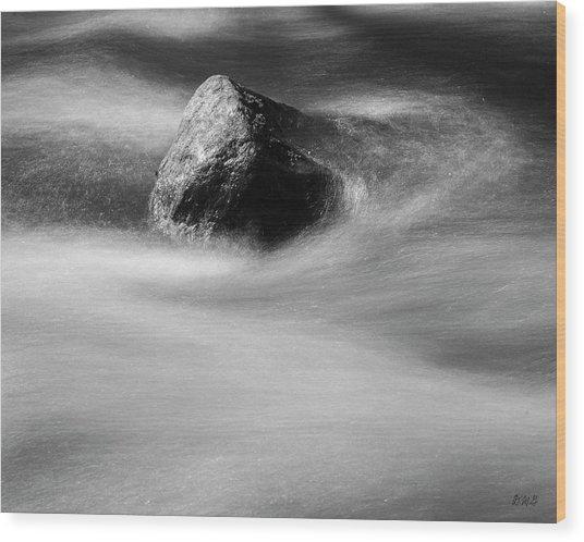 Blackstone River Xx Bw Wood Print by David Gordon