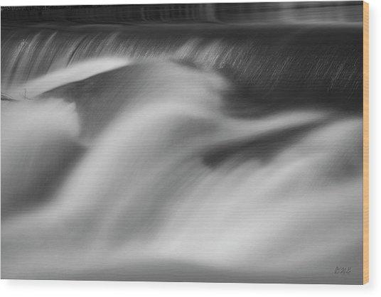 Blackstone River Xxxii Bw Wood Print by David Gordon