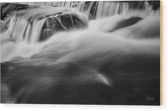 Blackstone River Xxxviii Bw Wood Print by David Gordon