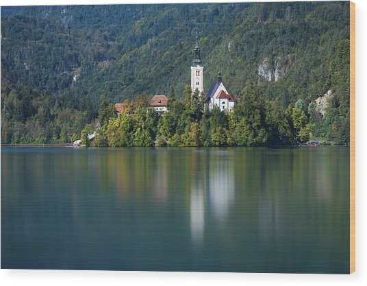 Wood Print featuring the photograph Bled Island by Davor Zerjav