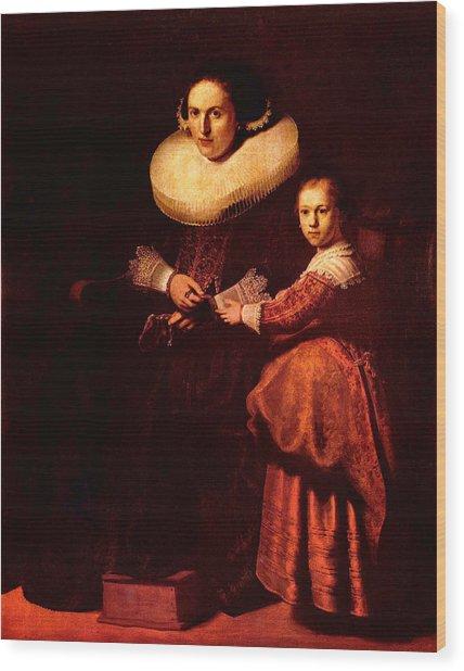 Blend I Rembrandt Wood Print