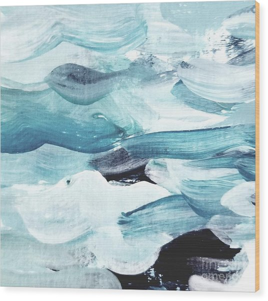 Wood Print featuring the painting Blue #13 by Maria Langgle