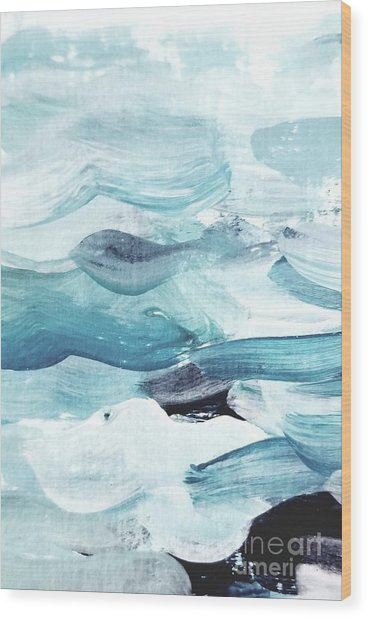Wood Print featuring the painting Blue #14 by Maria Langgle