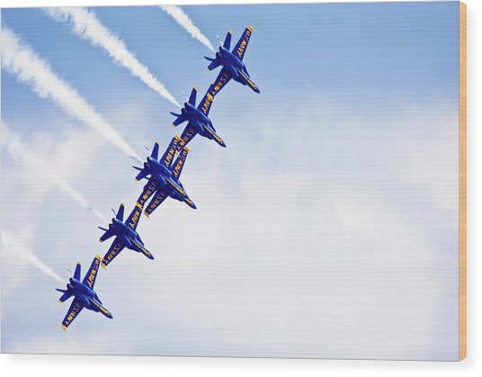 Blue Angels Wood Print by By Ken Ilio