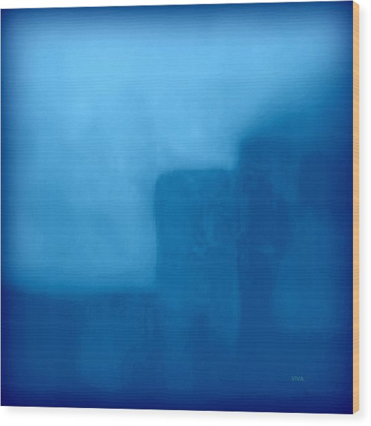 Blue Day - The Sound Of Silence  Wood Print
