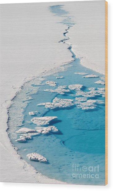 Blue Glacier Lake Wood Print