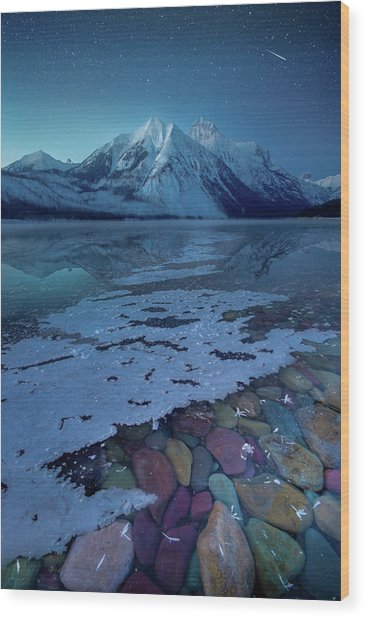 Blue Hour / Lake Mcdonald, Glacier National Park  Wood Print