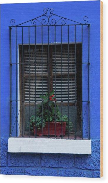 Blue-ming Beauty Wood Print