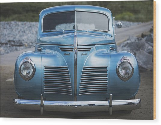 Wood Print featuring the photograph Blue Plymouth by Elliott Coleman