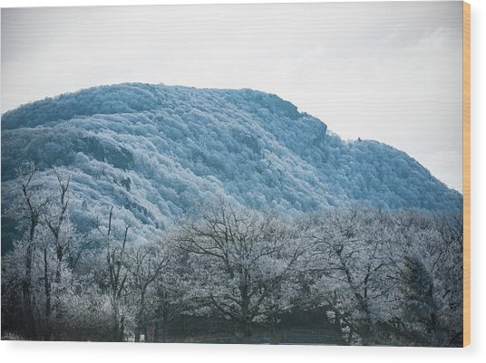 Blue Ridge Mountain Top Wood Print