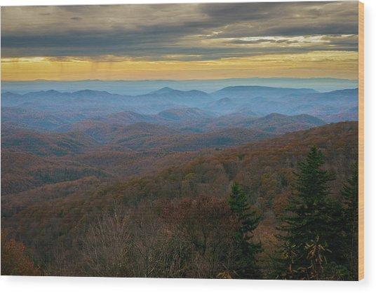 Blue Ridge Parkway - Blue Ridge Mountains - Autumn Wood Print