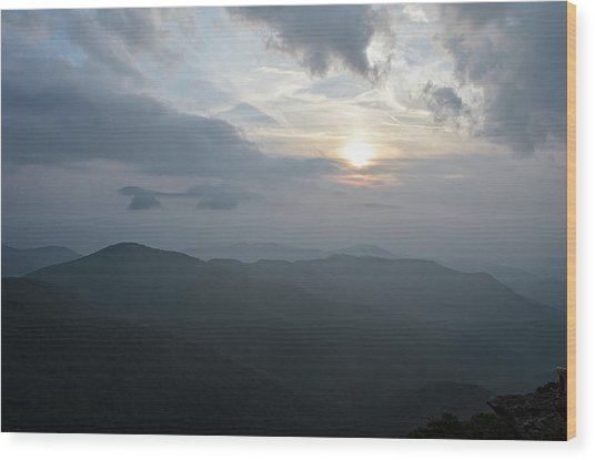 Blue Ridge Parkway Sunset Wood Print
