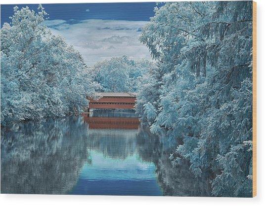 Blue Sach's Wood Print