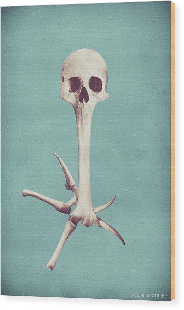 Blue Syzygy Wood Print