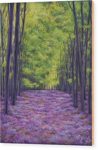 Bluebells And Daydreams Wood Print