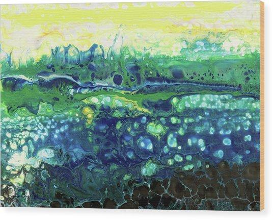 Blueberry Glen Wood Print