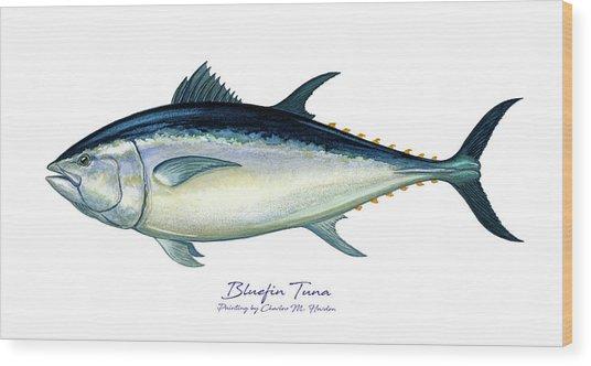 Bluefin Tuna Wood Print