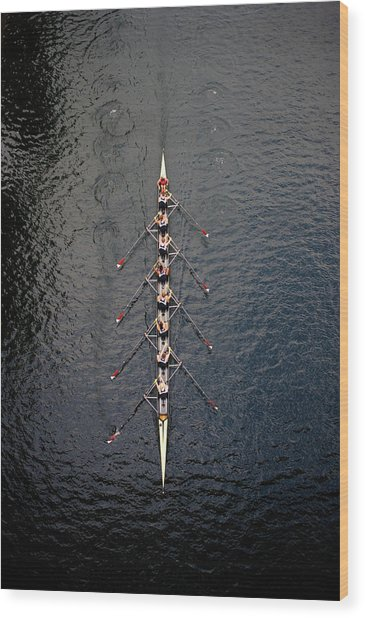 Boat Race Wood Print by Fuse