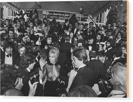 Bobbie Bresee Arrives At The Cannes Wood Print