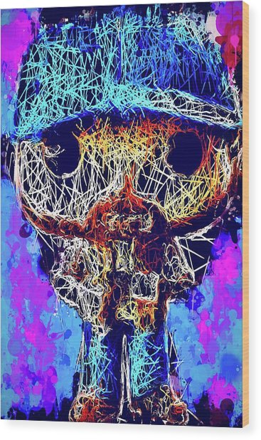 Bobby Supernatural Pop Wood Print