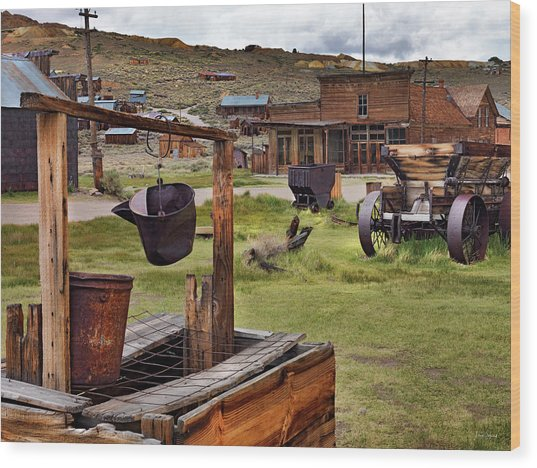 Bodie Ghost Town Wood Print by Leland D Howard