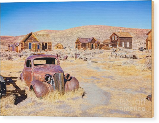 Bodie Is A Ghost Town In The Bodie Wood Print