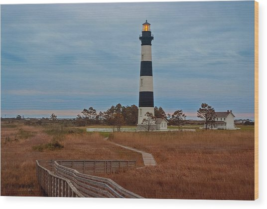 Bodie Island Lighthouse No. 4 Wood Print