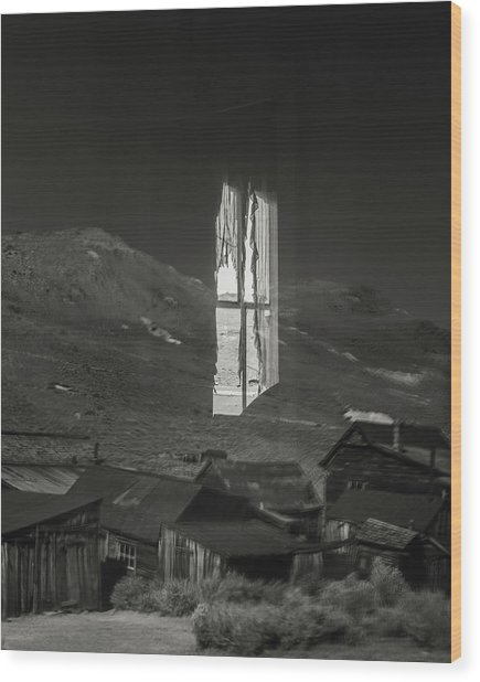 Bodie Reflections Wood Print by Joseph Smith