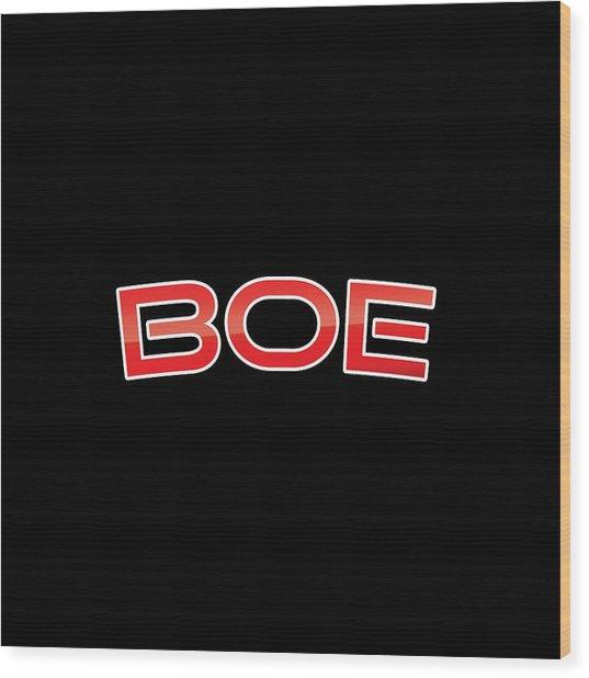 Boe Wood Print