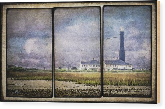 Bolivar Lighthouse Triptych 1 Wood Print